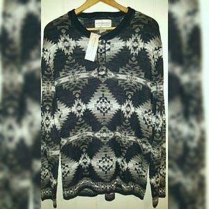 Denim & Supply Ralph Lauren L/S Henley Sweater XL